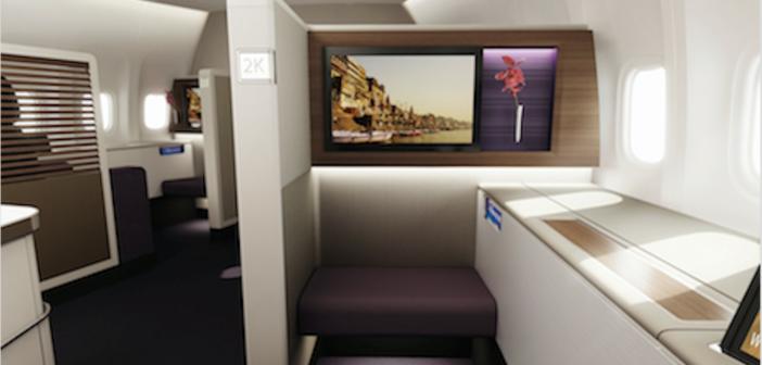 The Thai Airways International (THAI) revamped Boeing 747-400 first class cabin