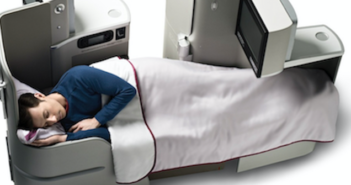 Iberia has flat beds in business class in the aircraft interiors of its Airbus A330 fleet