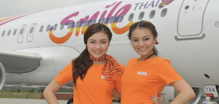 The Thai Smile Airbus A320 project extends from airplane livery to crew uniforms to aircraft interiors