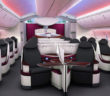 Qatar Airways Boeing 787 Dreamliner business class aircraft interior cabin