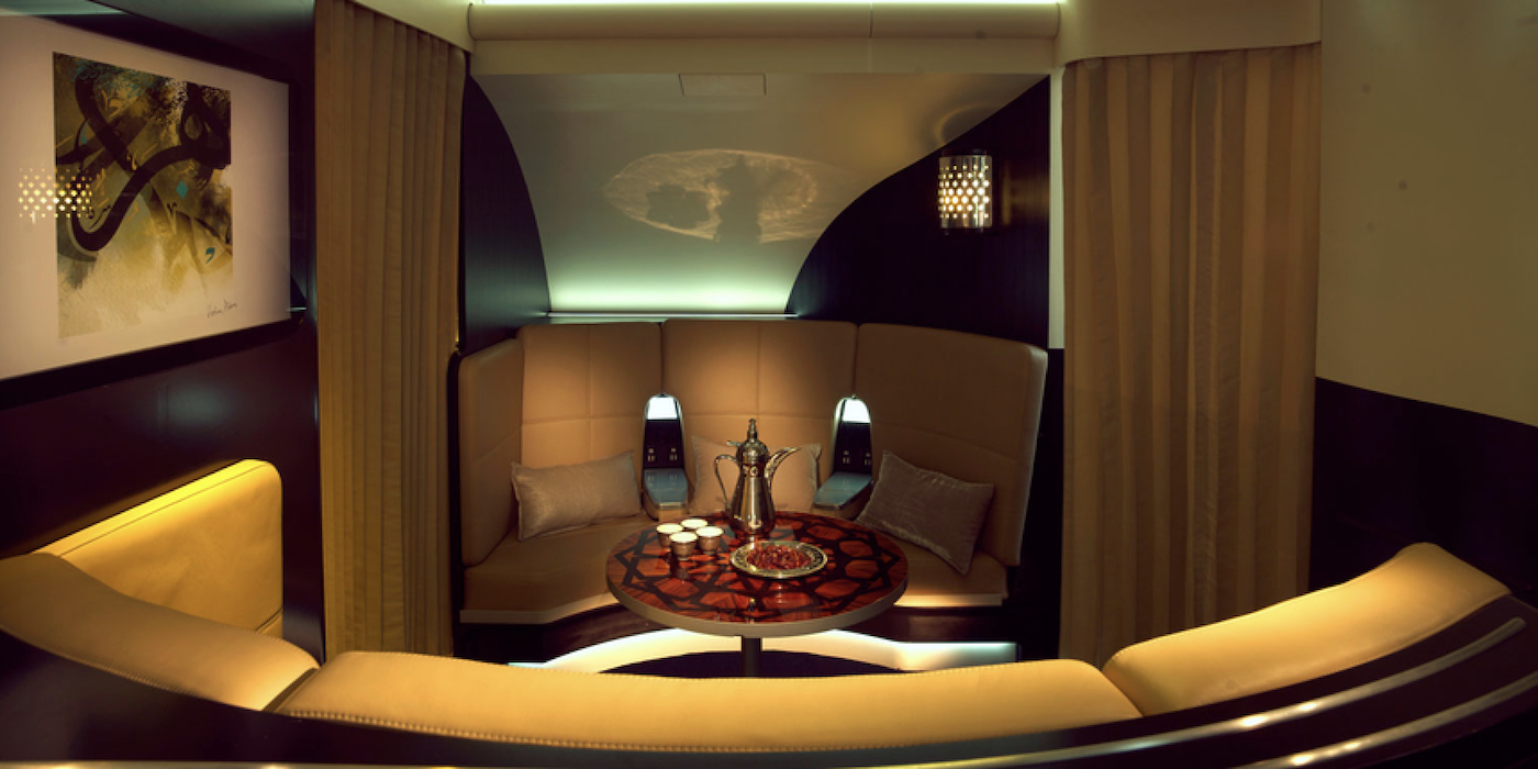 The aircraft interiors of the Etihad Airways A380 may be the best cabins in the world