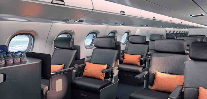 embraer e2 cabin designed by priestmangoode