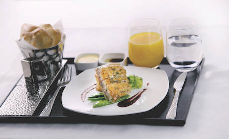 Image5 - Contemporary table setting in Business Class(1) - Aircraft ...