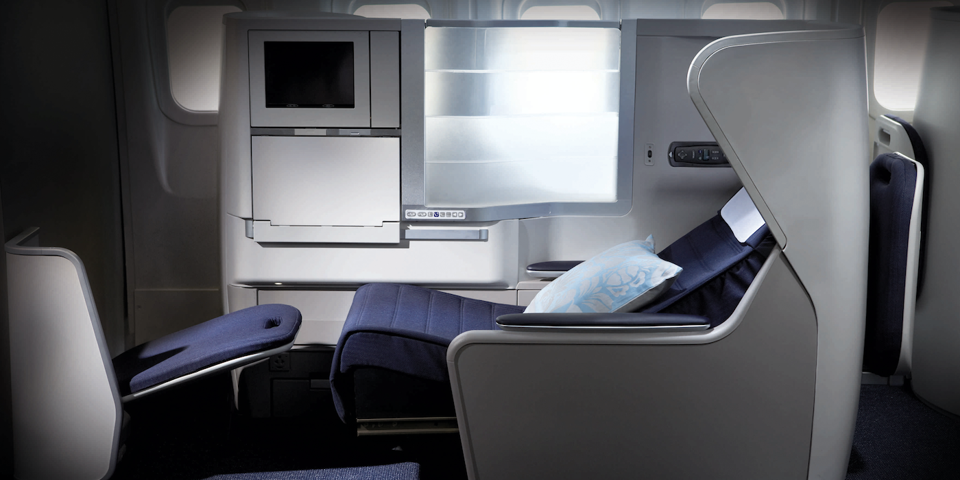 British Airways (BS) second generation Club World business class, launched in 2006