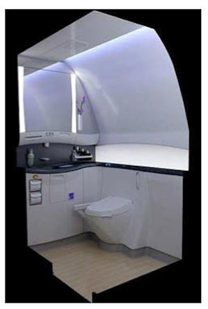 Figure 14 – Boeing 787 Dreamliner bathroom for people with a disability