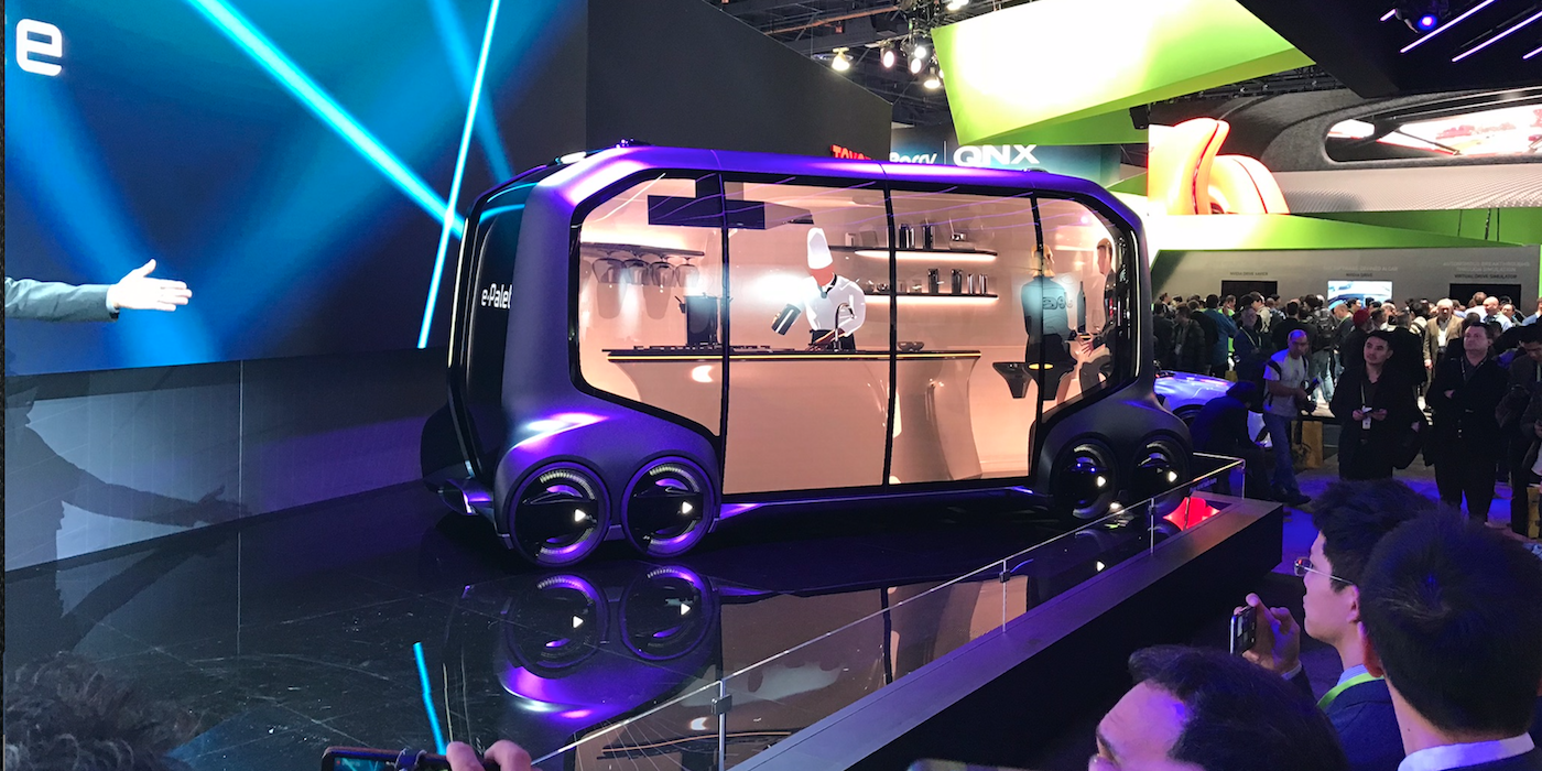 Toyota's E-Palette autonomous car vehicle concept was a star of the CES show in Las Vegas