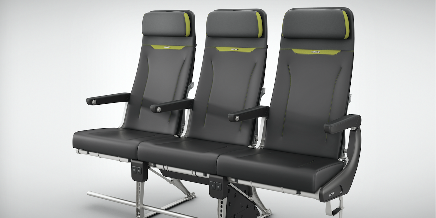 At Aircraft Interiors Expo, Recaro also unveiled the new BL3710 lightweight economy class seat