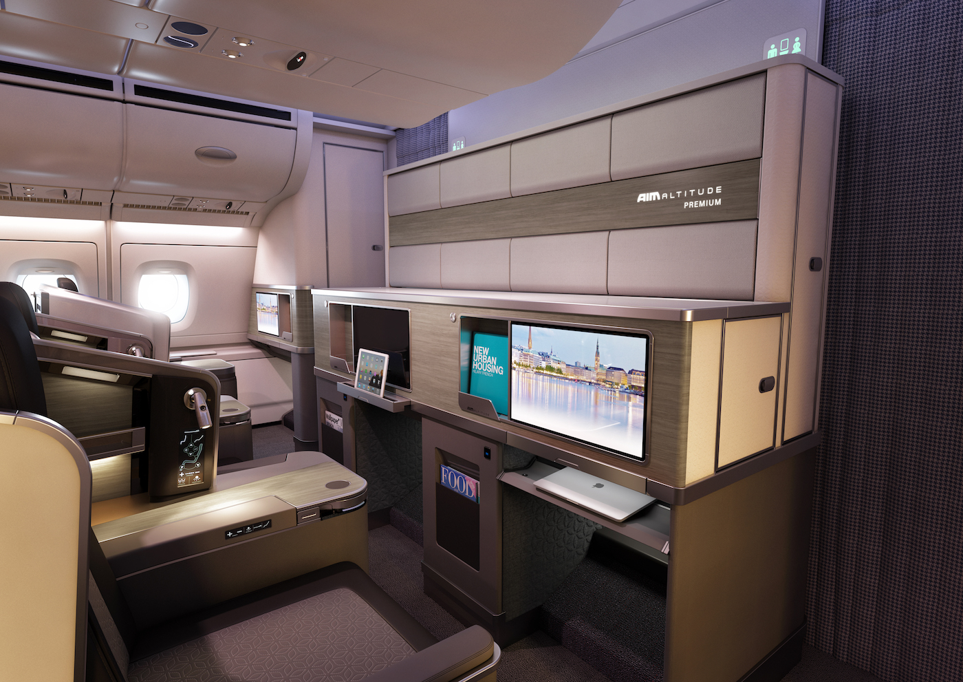AIM Altitude has created concept front-row monuments (FRMs) for aircraft interiors