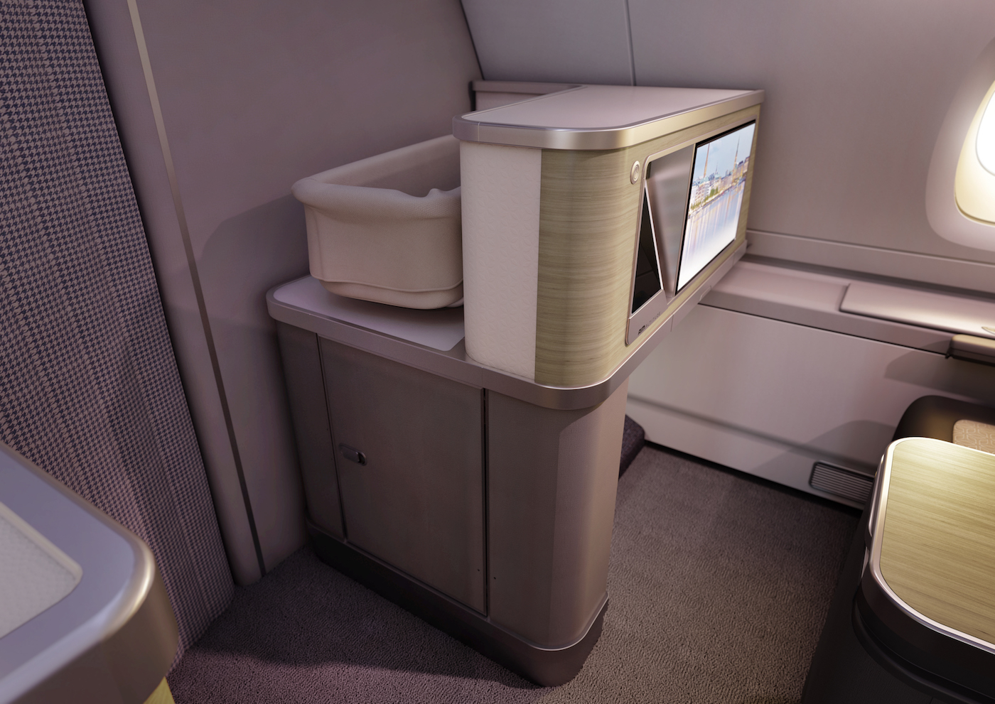 AIM Altitude's half-height monument has provision for a baby bassinet