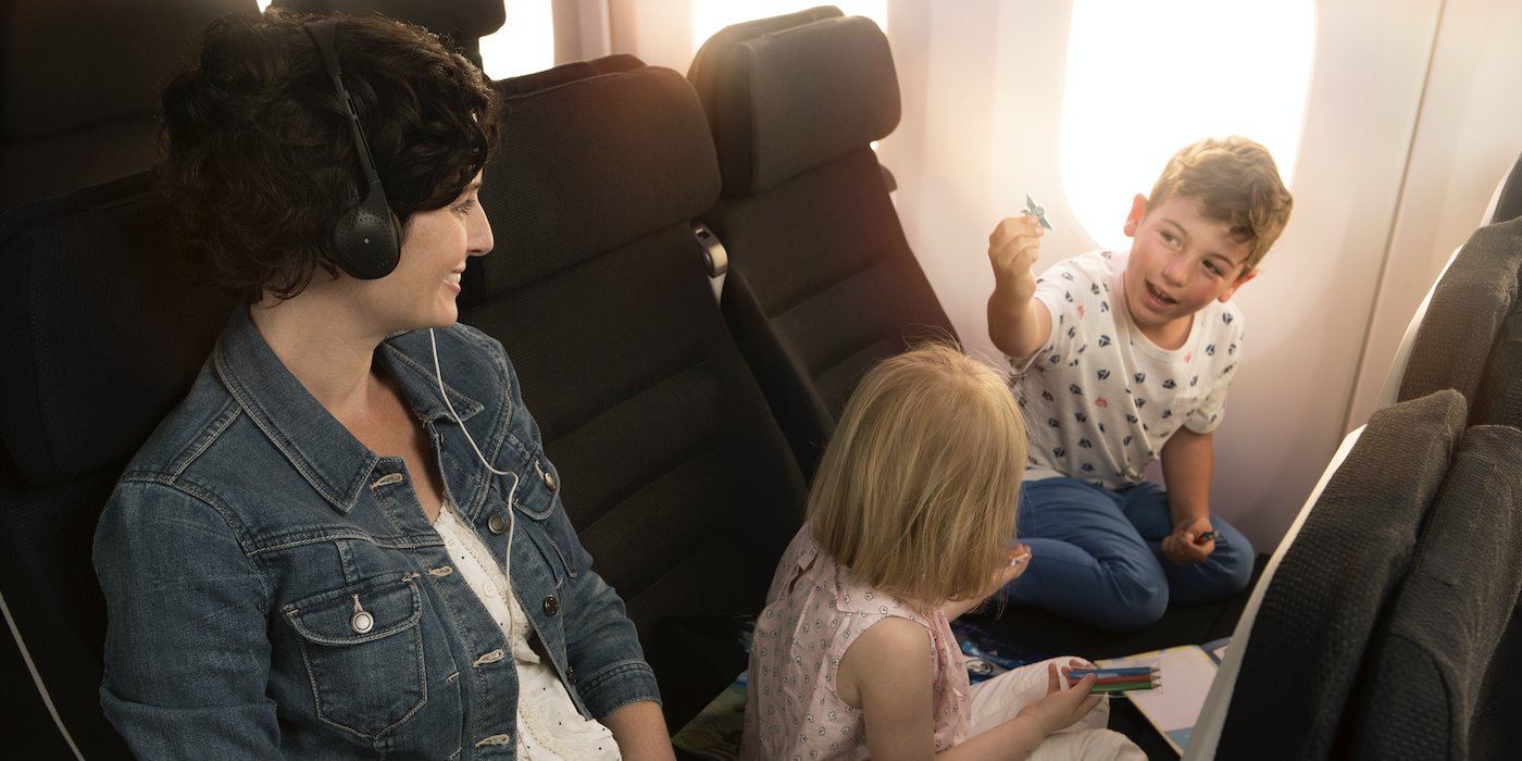 Air New Zealand's Skycouch has been one of the biggest innovations to enter the economy cabin space, making flying more enjoyable for families