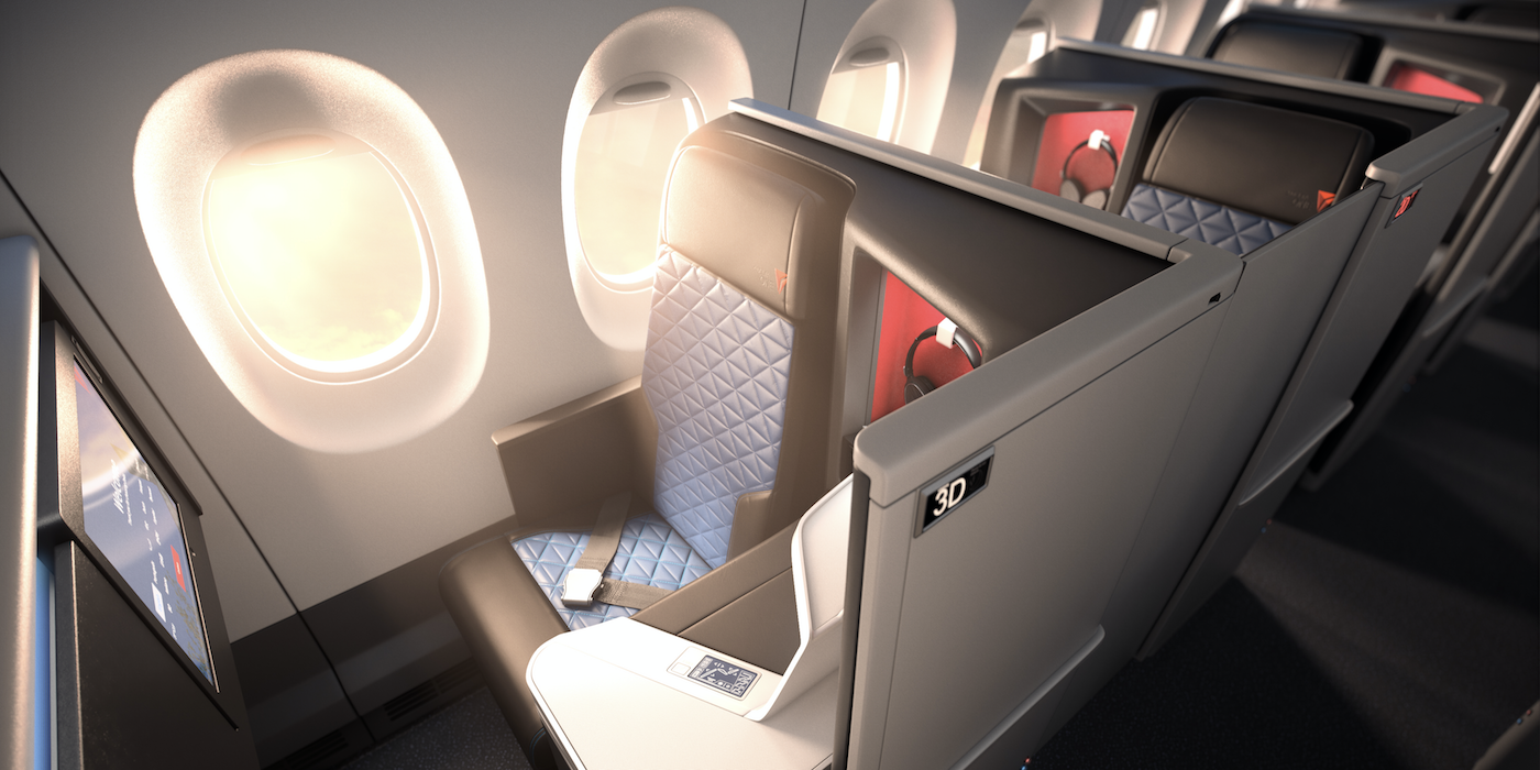 The Delta One suites by Delta Airlines are an impressive business class product