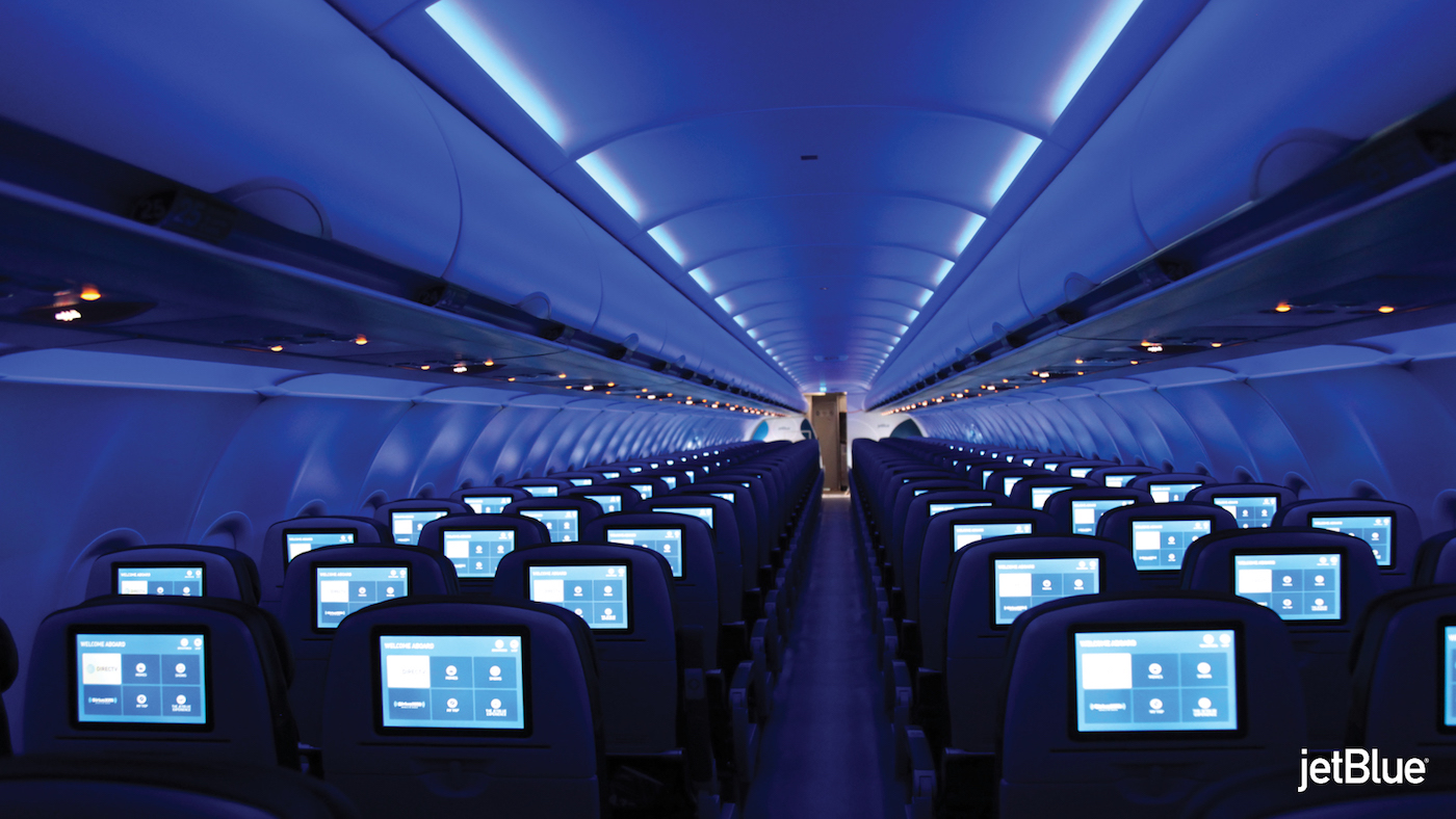 JetBlue A320 cabin upgrades include new aircraft seating and inflight entertainment (IFE)
