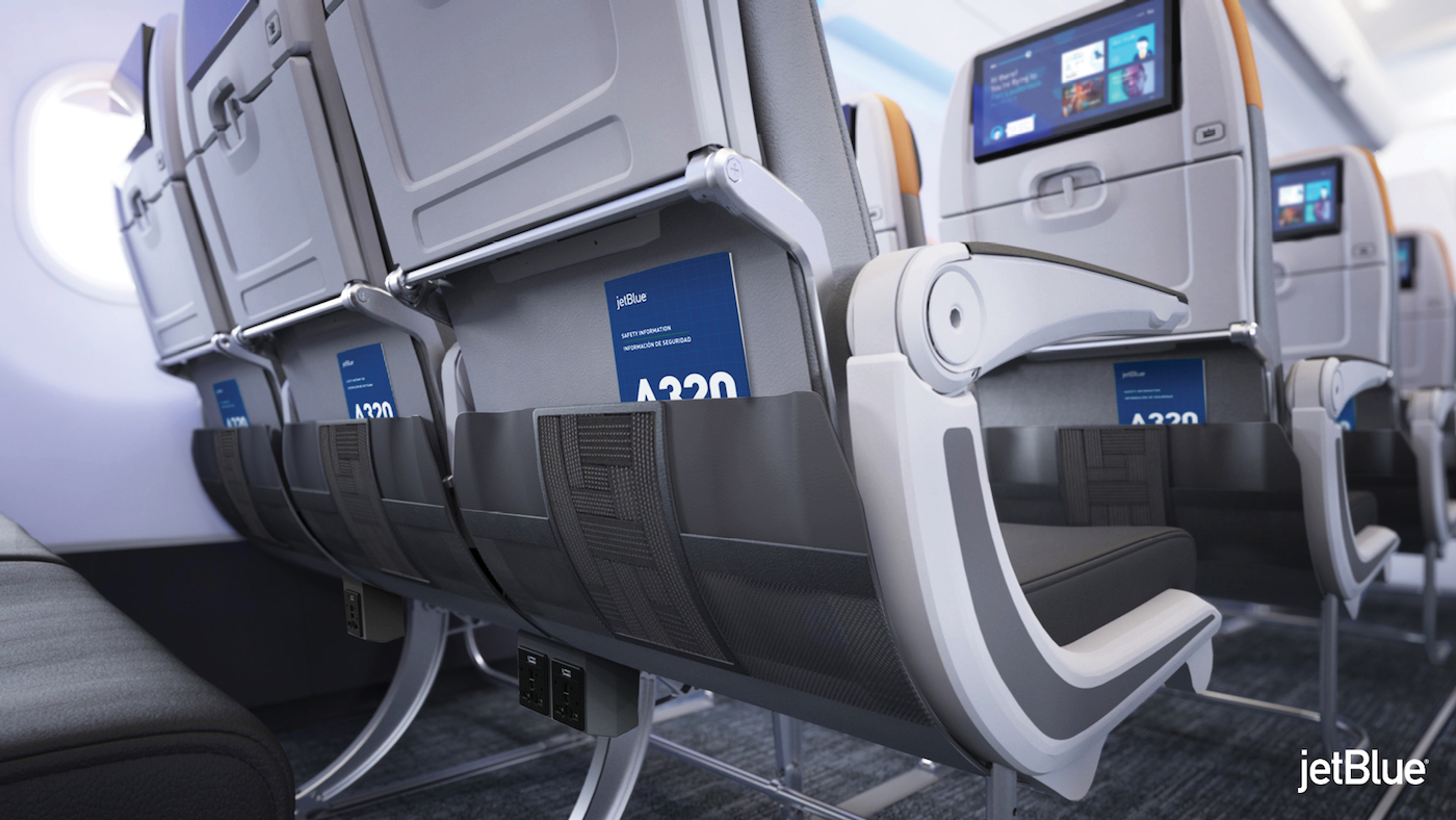 JetBlue's version of the Rockwell Collins Meridian seat