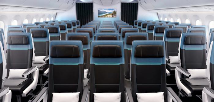 WestJet Boeing 787 Dreamliner economy clas