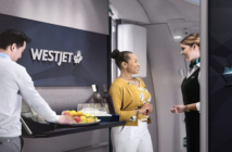 The WestJet Boeing 787-9 Dreamliners will feature a walk-up social area in premium economy class