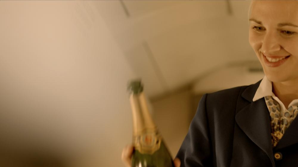 concorde champagne inflight service