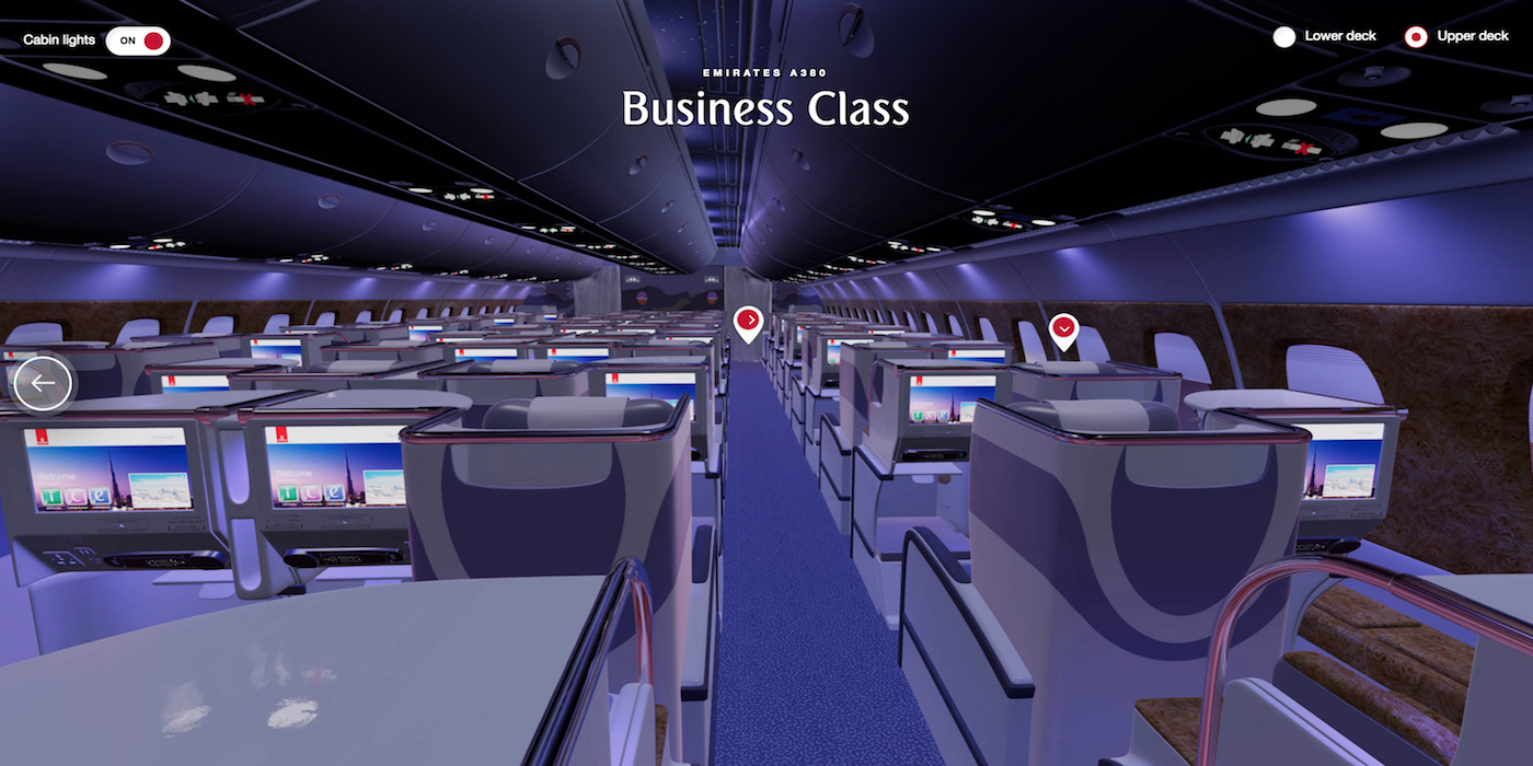Explore Every Class Of Emirates Cabins With Vr Technology Aircraft