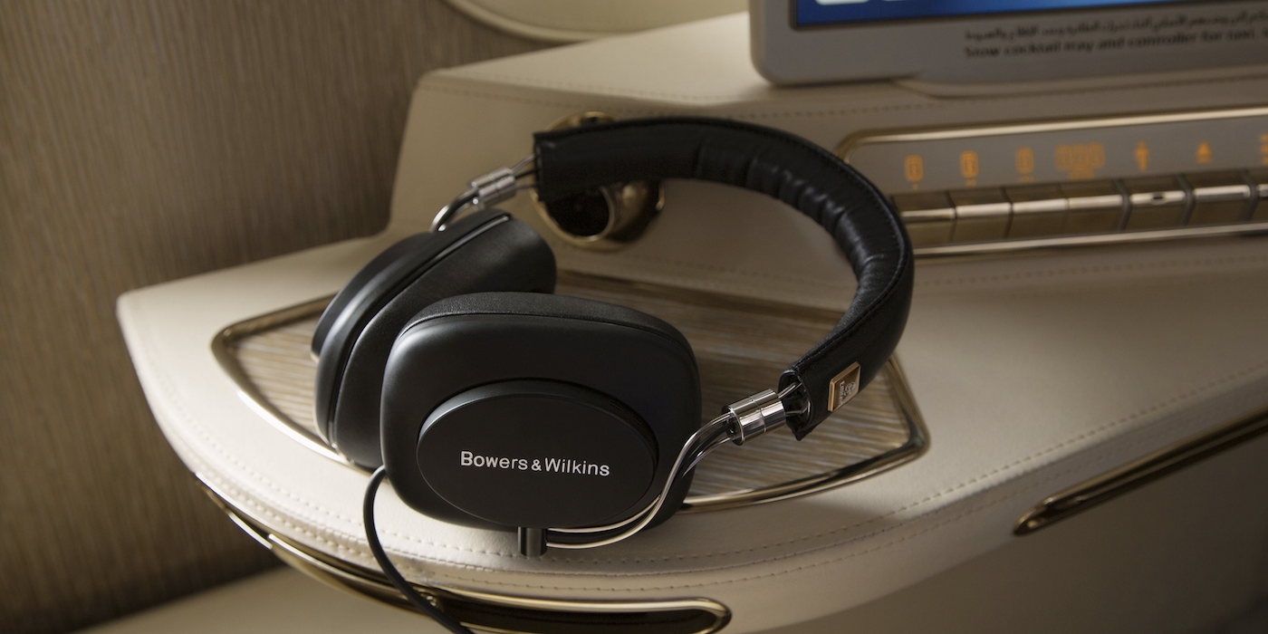 Bowers & Wilkins active noise-canceling headphones for Emirates