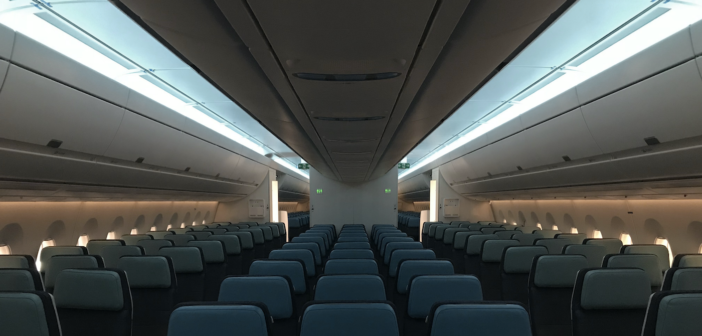 The PAL A350-900 cabin lighting schemes, created by LIFT Strategic Design