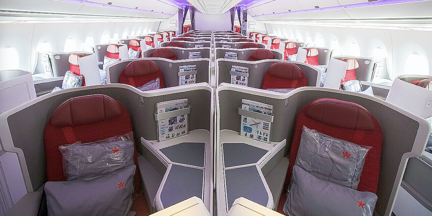hong kong airlines upgrades a350 business class aircraft. Black Bedroom Furniture Sets. Home Design Ideas