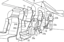 airbus patent stacked seating