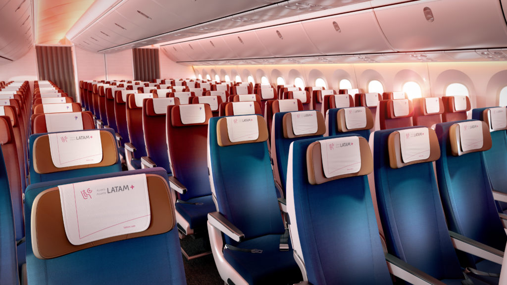 LATAM economy seats cabin