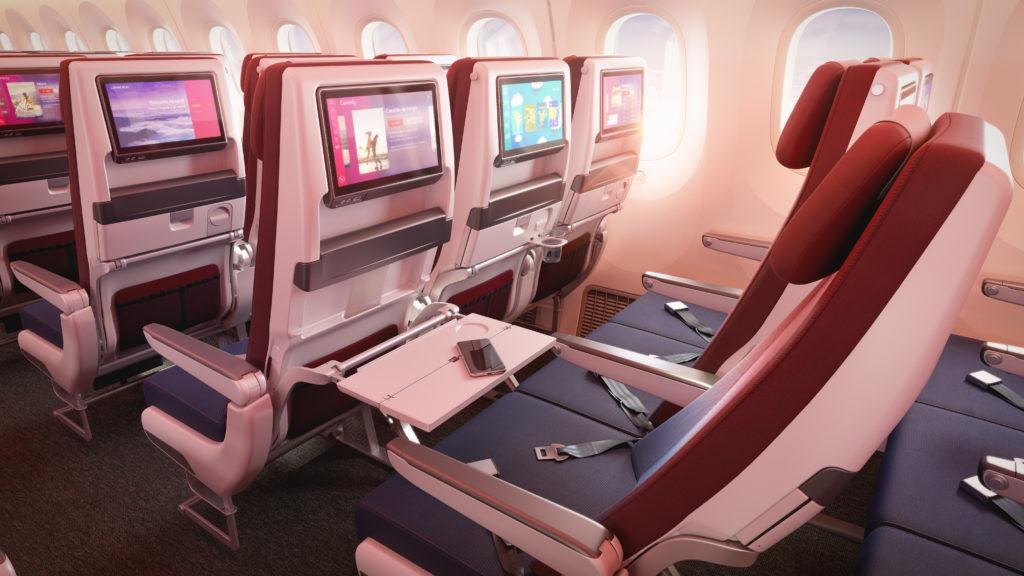 The economy cabin features Recaro seats