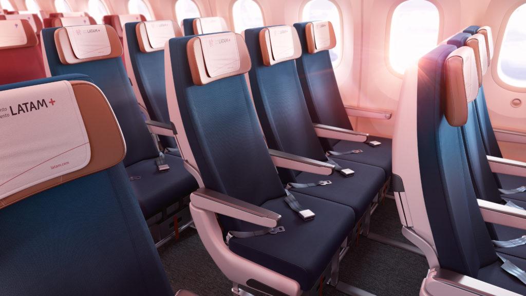 LATAM+ seats economy cabin