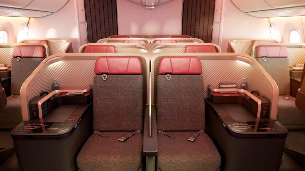 LATAM Business Class cabin