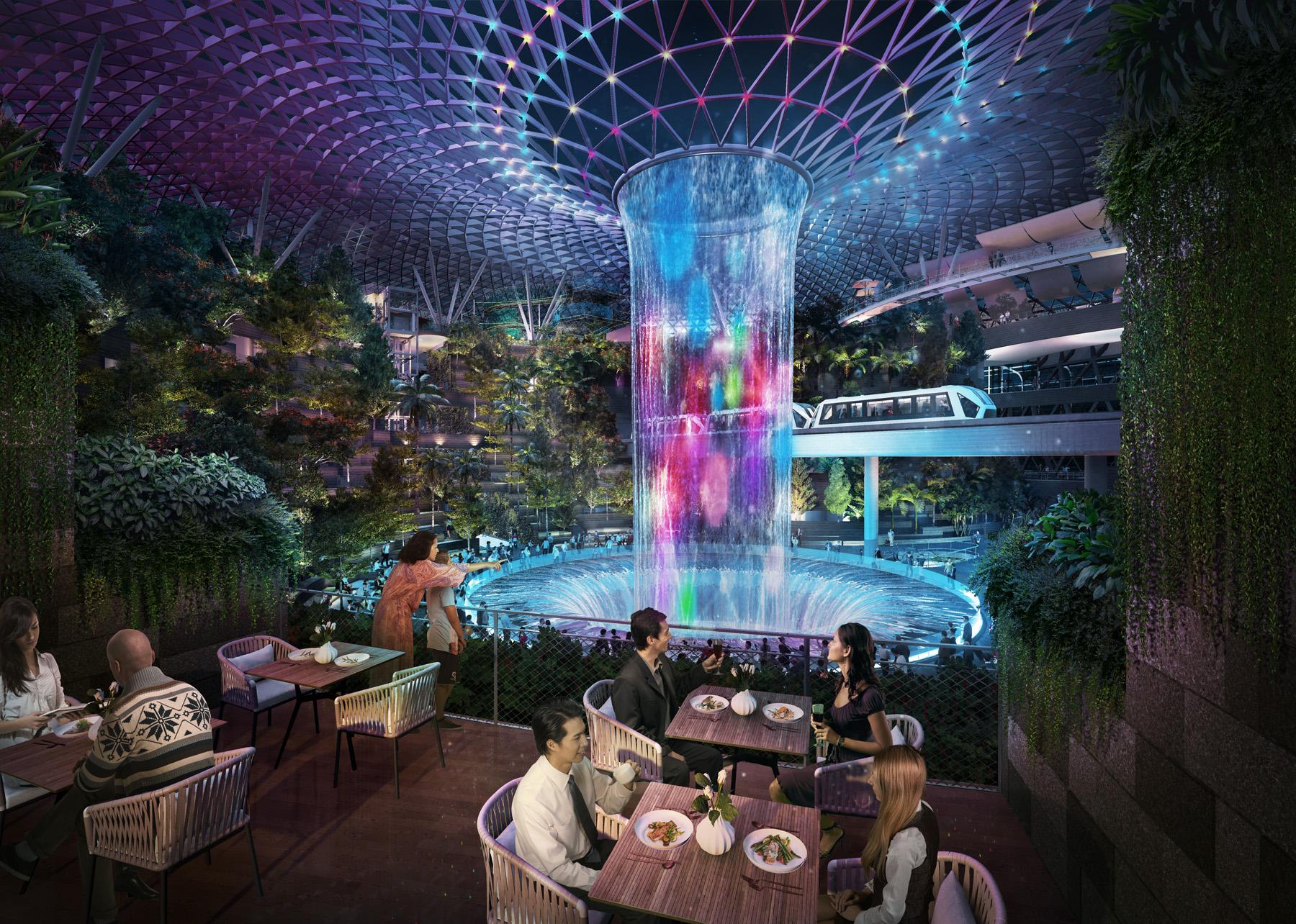 Stunning pre-flight dining options at Changi's Jewel