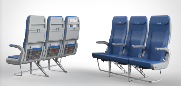 The first seat design to be released by the partnership: the 'Aurora 2.0' economy seat