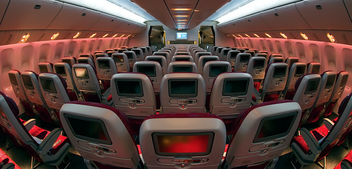The outgoing economy seats on Qatar Airways' B777s