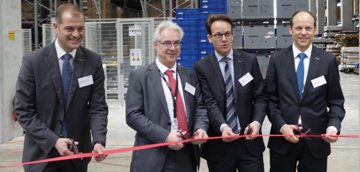 From left to right: Joachim Ley, EVP of supply chain, RAS; Hermann-Josef Pelgrim, Mayor of Schwäbisch Hall; Martin Putsch, CEO of Recaro Group; Dr Mark Hiller, CEO of RAS