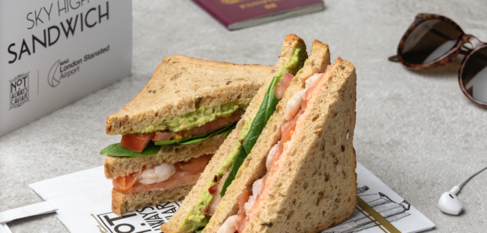 The Signature Seafood Club sandwich from London Stansted Airport's Not Always Caviar cafe