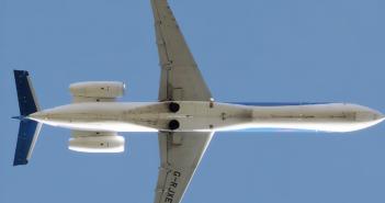 The EMB 135 in flight