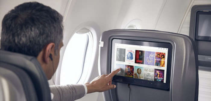an air canada passenger using the ife