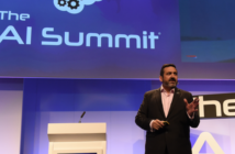 BA CEO Alex Cruz addressing artificial intelligence experts at the AI Summit at London Tech Week