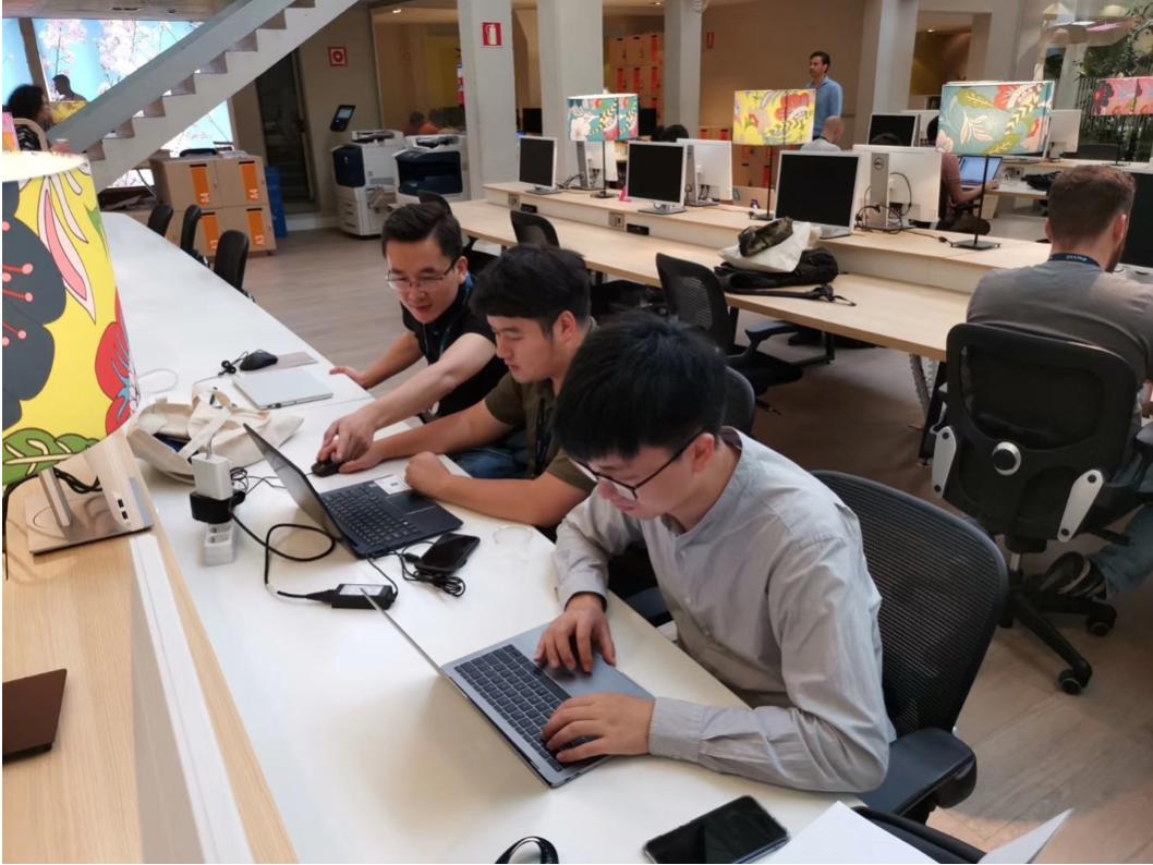 The PKFare team busy at the non-stop coding session