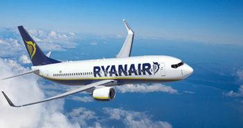 a ryanair aircraft in flight