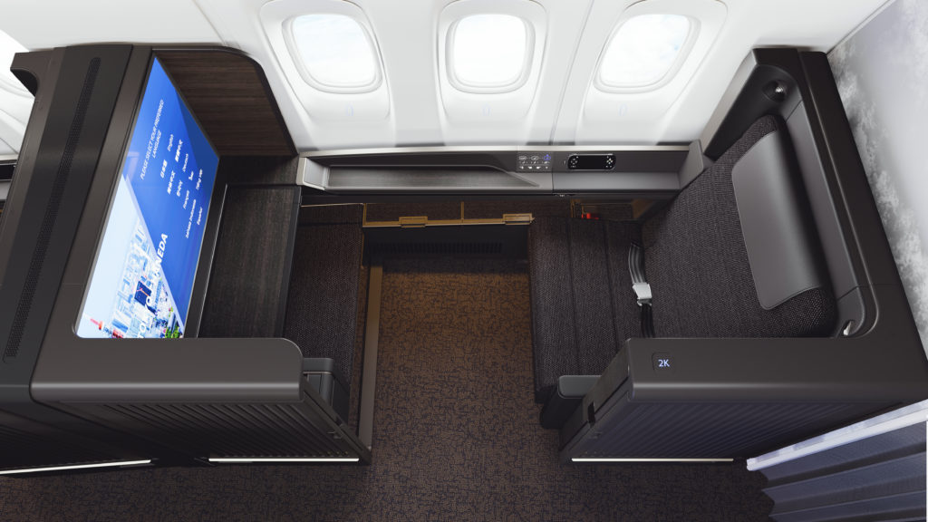 ANA's 777 First class features a 43in 4K IFE display