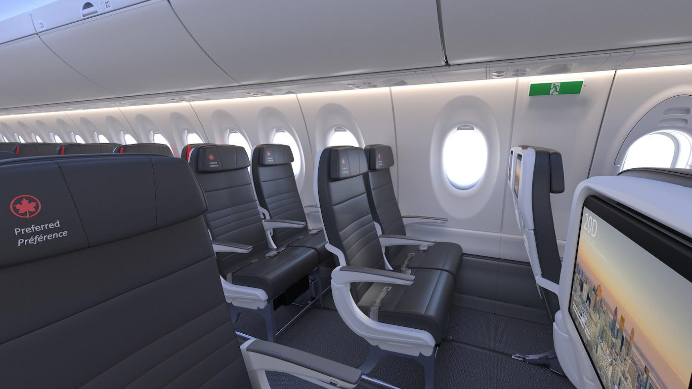 Inside Air Canada S A220 300 Aircraft Interiors