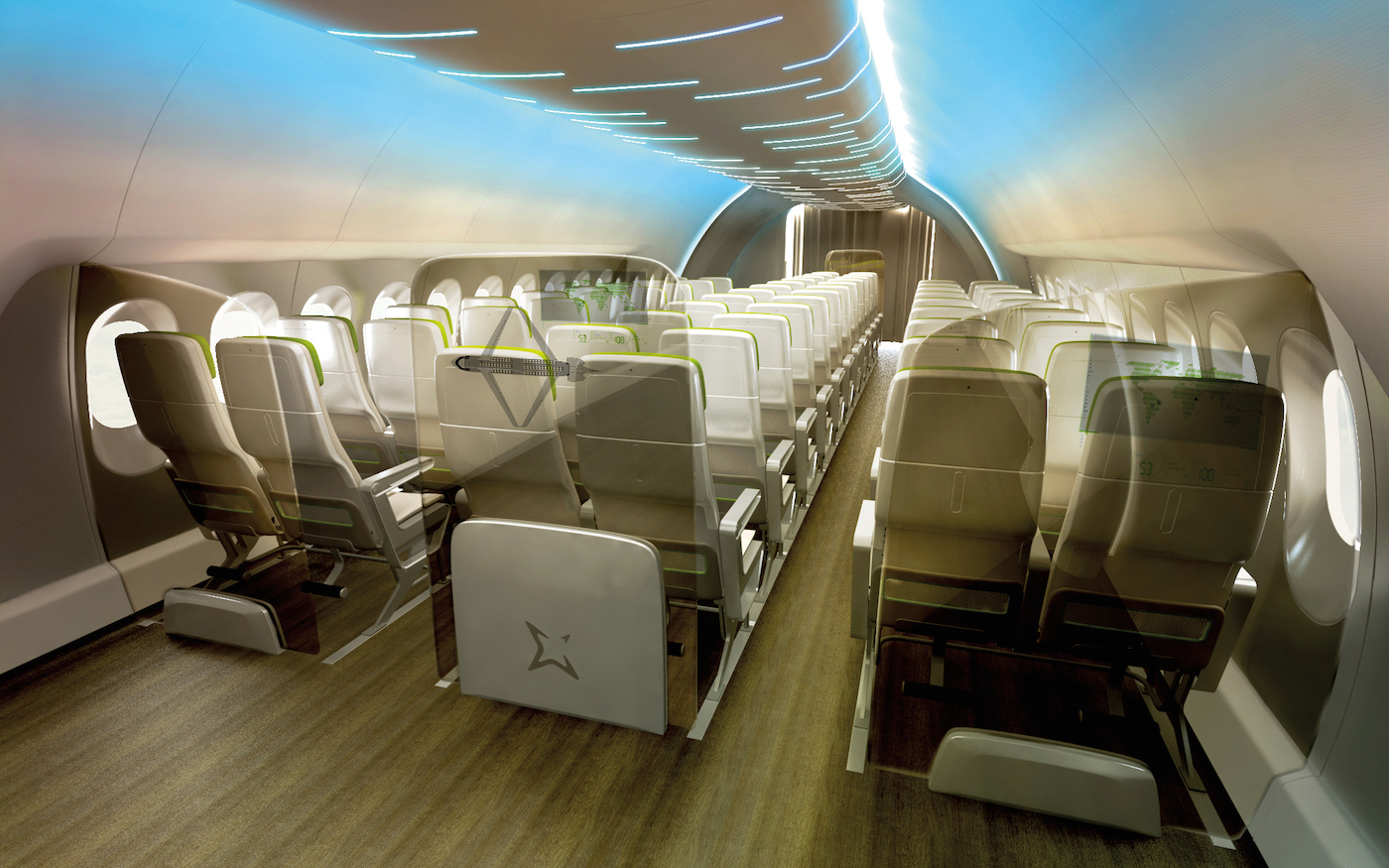 The Middle Of Market Airplane Aircraft Interiors International