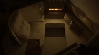 A cosy fire effect in first class