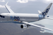 a flybe Embraer e175 aircraft in flight