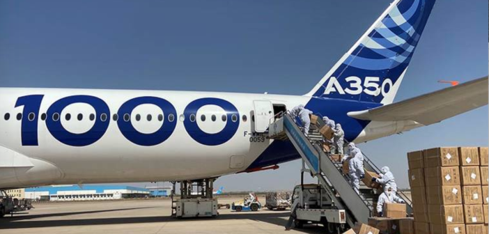 Airbus completes third medical supplies mission