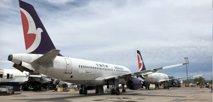 APOC has acquired two ex-Air Macao A319-132 airframes