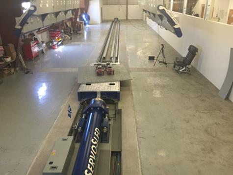 Jamco America's dynamic test facility