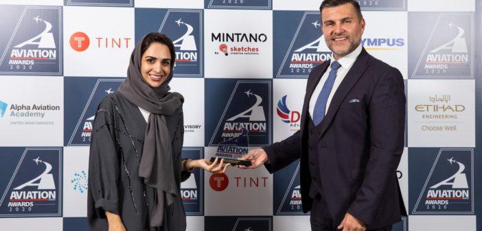 "Etihad Engineering won the inaugural ""Pride of Aviation"" award at the Aviation Business Awards 2020"