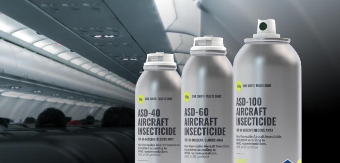 A can of aero-sense AIRCRAFT INSECTICIDE