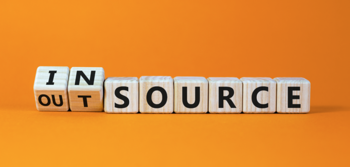 building blocks spelling outsource and insource